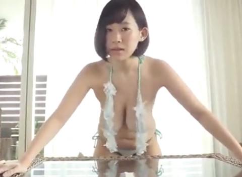 【日比谷亜美】変態監督の言いなりにおま○こや生乳まで揉まれてる爆乳アイドル。
