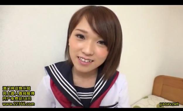 【椎名そら】超綺麗なアナル大公開!童顔JKの美尻を思う存分堪能!