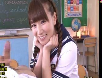 【初川みなみ】超絶美少女JKが主観淫語まじりの手コキシコシコ♪
