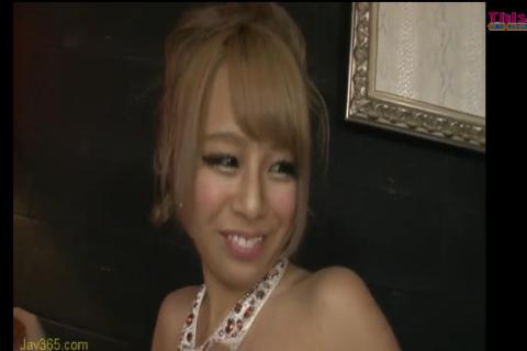 【相葉レイカ 白咲碧】キャバ嬢のドレス姿エロッ!ドレス来たまま尻コキ!