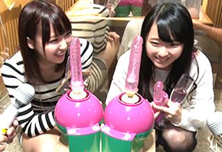 ☆最強マシンバイブ☆vs激安居酒屋に訪れた簡単に股を広げる素人女子大生2名(たっぷり謝礼有り)