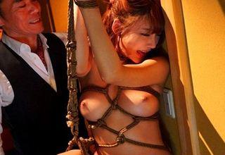 【明日花キララ】緊縛解禁作品。縛られ拘束されて辱めを受けながらもオマ〇コグッショリwww
