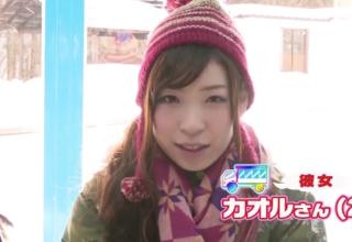 【香山美桜】スキー場でカップルをナンパ。MM号でエステ体験と称して寝取られ中だしされちゃう彼女。
