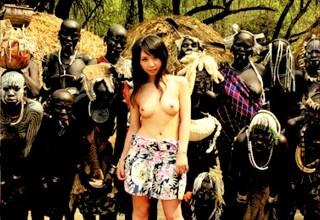 【大沢佑香】かなりエッチなカラダしたお姉さんが部族の村に行って現地の男たちとセックス三昧www