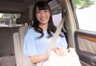 【三原ほのか】巨乳&スレンダーな神ボディなお姉さんとカーセックス!?