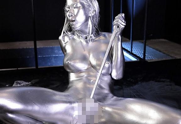 【二宮和香】綺麗な顔してガチマゾ女wwスレンダーでスタイル抜群な巨乳美女に全身金粉塗りたくりセックス。