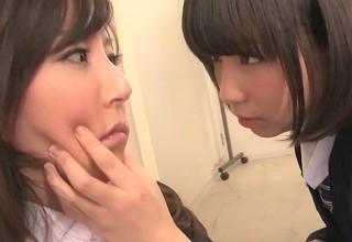 【葵こはる 澤村レイコ】カリスマ女教師と美少女女子校生のレズセックスが濃厚すぎてヤバいwww