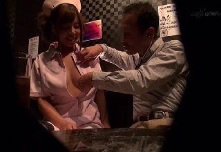 【素人】おっパブで巨乳嬢を媚薬発情させ痙攣セックス