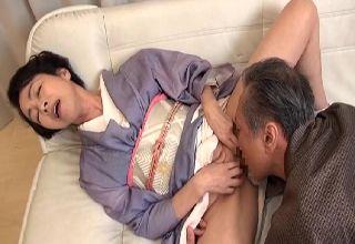 【藍川京子】火照った身体をもてあます書道の熟女先生