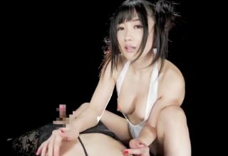 【大槻ひびき】主観映像で悶絶手コキと淫語責め!痴女のすごテクでいっちゃった♪