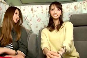 【素人ナンパ】渋谷ギャル2人組に電マを当てて初イキさせたったw