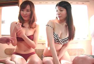 【素人】ビーチでなんぱした巨乳ビキニなお姉さんにエッチなことしちゃった♡