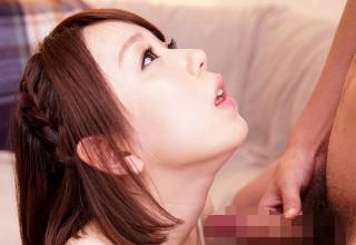 【麻丘みゆう】清楚系ピチピチ女子な19歳がAVデビュー!フェラでおっぱいに発射!