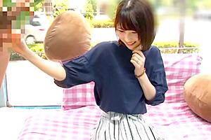 【マジックミラー号】「直視できない…」超絶美人なFカップ巨乳妻が早漏改善で何度もヌイてくれる!